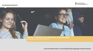 Infobroschüre Gründerworkshop Coworking
