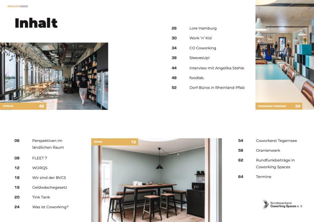 Spaces Coworking Magazin Ausgabe 01 - Vorschau